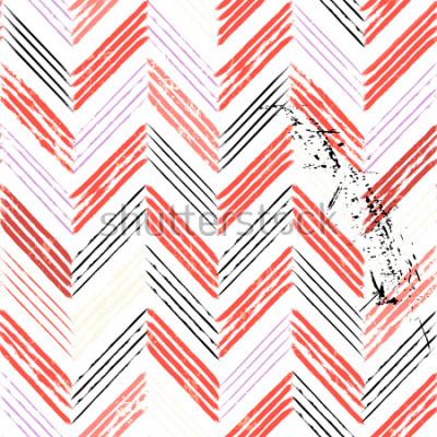 Papiers peints abstrait, avec les coups et les éclaboussures, motif de zigzag sans soudure