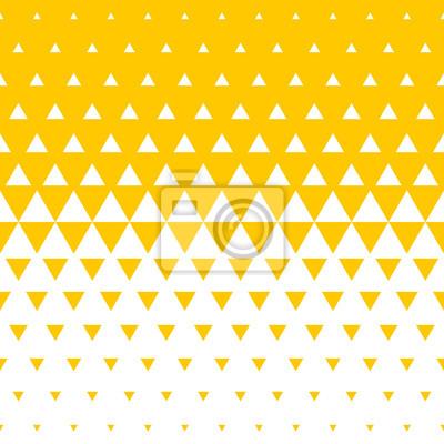 Abstrait de demi-teintes triangle jaune et blanc. Modèle sans couture de vecteur de transition de couleur mosaïque irrégulière pour la conception de fond de tendance moderne