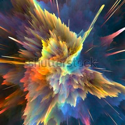 Papiers peints Abstrait explosion colorée. Closeup, illustration haute résolution pour votre brochure, dépliant, conceptions de bannière et autres projets. Effet d'éclairage d'explosion. Illustration de rend