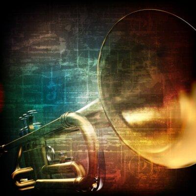 Papiers peints abstrait grunge avec trompette