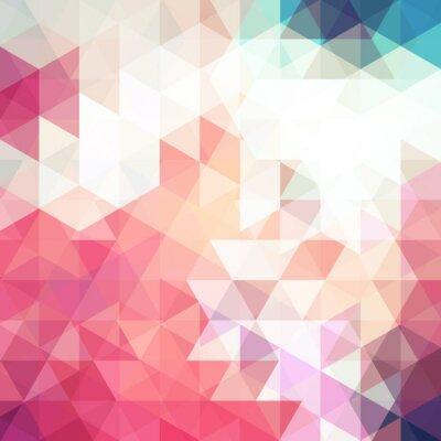 Papiers peints Abstrait mosaïque rose. Contexte géométrique triangle. Éléments de conception. Illustration vectorielle