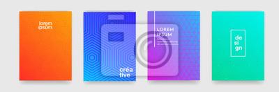 Papiers peints Abstrait motif géométrique avec la texture de ligne pour la conception de la couverture de brochure entreprise. Modèle d'affiche bannière vecteur dégradé rose, orange, violet, bleu et vert