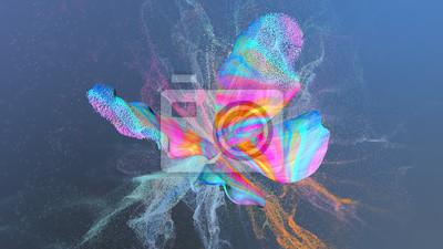 Papiers peints Abstrait multi couleur avec des particules de peinture à la forme de papillon.