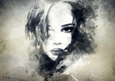 Papiers peints abstrait portrait de femme