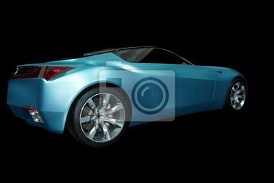 abstrait voiture de sport bleu