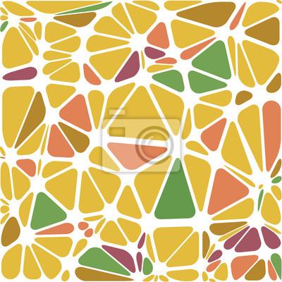 Abstraite triangulaire, blanc illustration multicolore rayé, vecteur.