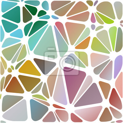 Abstraite triangulaire, blanc illustration multicolore rayé, vecteur, objet de la technologie numérique.