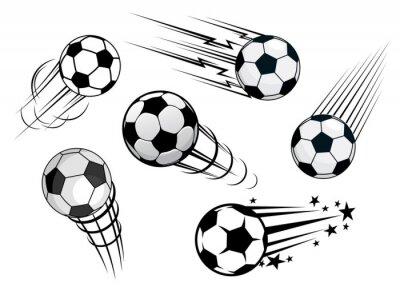 Papiers peints Accélérer ballons de football ou des ballons de football
