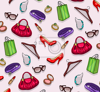Accessoires de modèle commercial de la femme