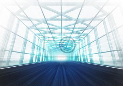 acier croix encadrée hippodrome tunnel de lumière