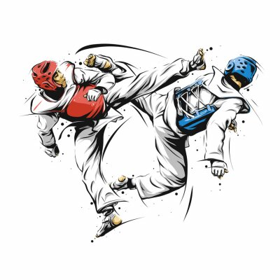 action de taekwondo 1 papier peint papiers peints art martial taekwondo karat. Black Bedroom Furniture Sets. Home Design Ideas