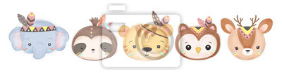 Papiers peints adorable animals illustration for personal project,background, invitation, wallpaper and many more