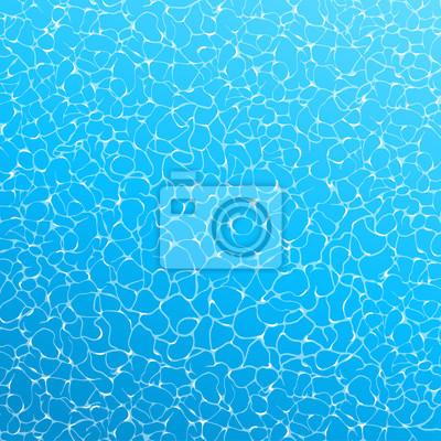 Papiers peints Affiche d'été réaliste de vecteur. Vue de dessus de l'eau bleue.