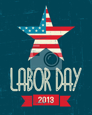 Affiche de la fête américaine du travail