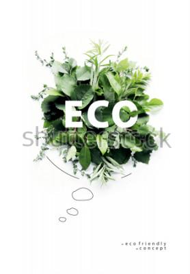Papiers peints Affiche de la planète respectueuse de l'environnement. Bulle symbolique, faite d'herbe verte et de branches. Notion de nature minimale. Nature parlant Pensez Vert. Concept d'écologie. Lay