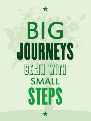Papiers peints Affiche de motivation - les grands voyages commencent par de petites étapes