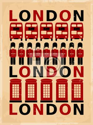 Affiche vintage de Londres