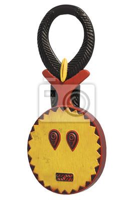 Afrique Baule masque 3d illustré