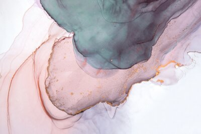 Papiers peints Alcohol ink sea texture. Contemporary art. Abstract art background. Multicolored bright texture. Fragment of artwork. Modern art. Inspired by the sky, as well as steam and smoke. Trendy wallpaper.