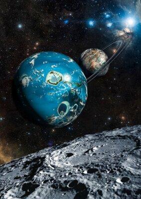 Papiers peints Alien Exo Planet. Éléments de cette image fournis par la NASA