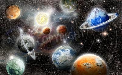 Papiers peints Alien, planète, étoile, système, espace