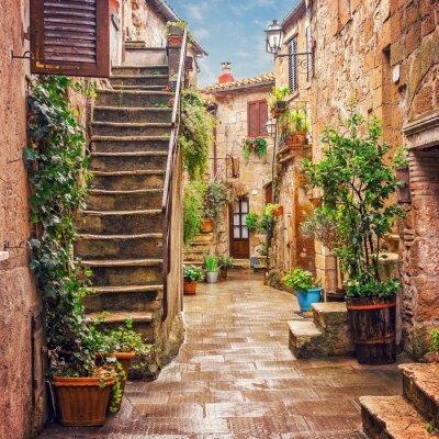 Papiers peints Alley dans la vieille ville Pitigliano Toscane Italie