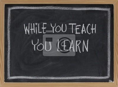 Papiers peints alors que vous enseignez, vous apprendrez