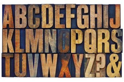 Papiers peints alphabet bois typographique blocs de type
