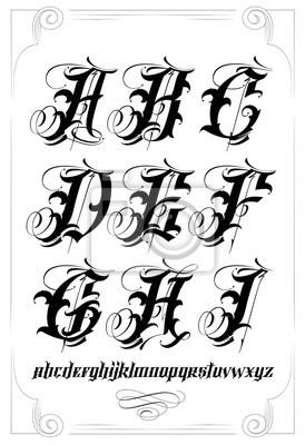 Calligraphie Lettre alphabet de calligraphie papier peint • papiers peints rudiments