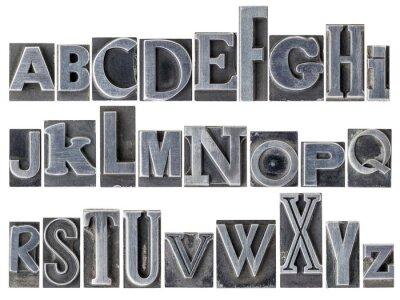 Papiers peints alphabet de type métallique mixte