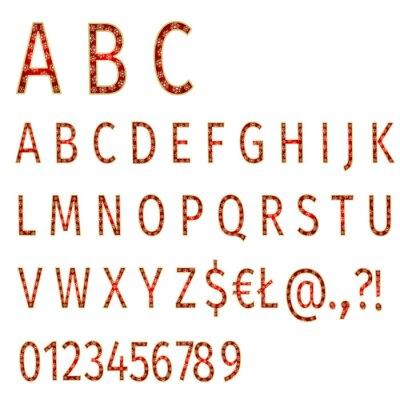 Papiers peints Alphabet, flocons, rouges, fond, vecteur