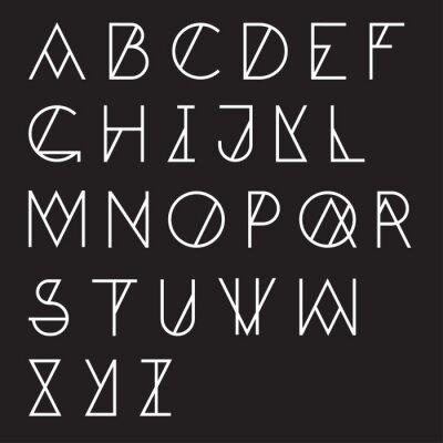 Papiers peints Alphabet géométrique moderne
