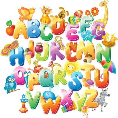 Papiers peints Alphabet pour les enfants avec des photos