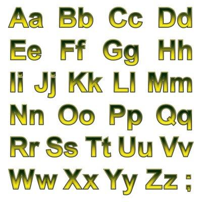 Papiers peints Alphabet pseudo 3d lettres