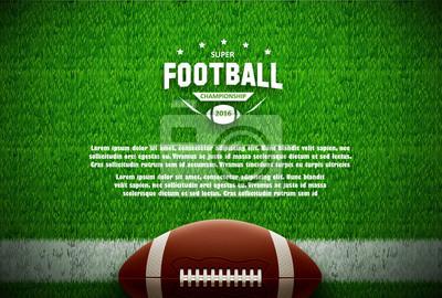Papiers peints Américain, football, haut, vue, vert, champ