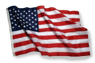Papiers peints american flag isolated on white
