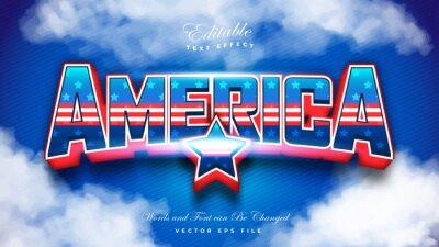 Papiers peints American Flag Text Effect