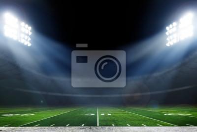 Papiers peints American football stadium with bright lights