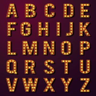 Papiers peints Ampoule Alphabets Set