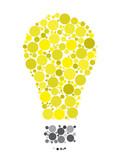 Id e touches sur le clavier avec le symbole de lampoule for Idee innovation produit