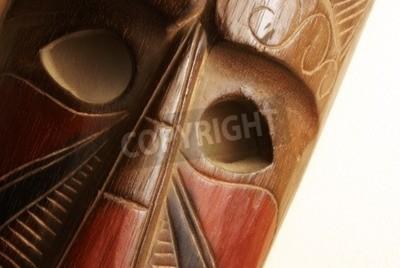 An African handmade mask on display.