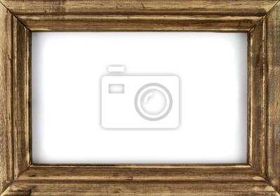 Papiers peints Ancien cadre photo isolée sur fond blanc.