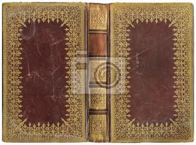Papiers Peints Ancien Livre Ouvert Couverture En Cuir Vers 1895 Parfait
