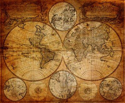 Papiers peints Ancienne carte (1746)