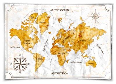 Papiers peints Ancienne carte