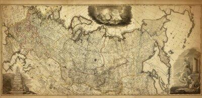 Papiers peints Ancienne carte de la Russie, imprimée en 1786