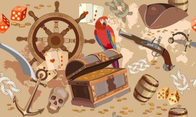 Carte Au Tresor Pirate.Papiers Peints Ancienne Carte Des Tresors Pirates Sans Couture Coffre Au Tresor