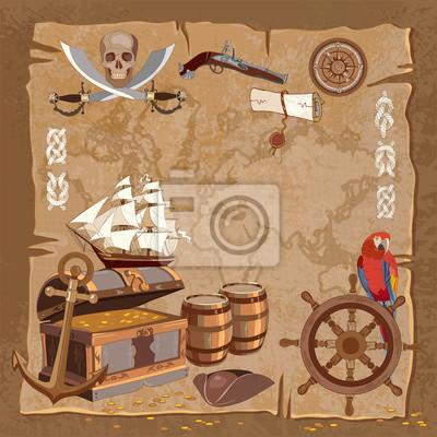 Carte Au Tresor Histoire.Papiers Peints Ancienne Carte Du Tresor Pirate Histoire Daventures