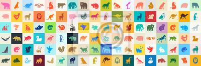 Papiers peints Animals logos collection. Animal logo set