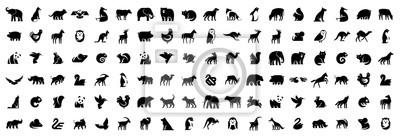 Papiers peints Animals logos collection. Animal logo set. Isolated on White background